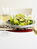 Lettuce with cucumber, radishes and dill