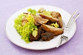 Veal with pears