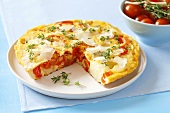 Potato and red pepper tortilla