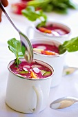 Chlodnik (Cold beetroot soup with egg, Poland)