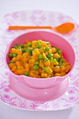 Carrots and peas for toddlers
