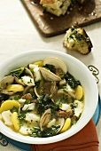 Fish and potato stew with herbs