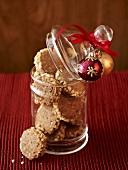 Hazelnut cookies in glass jar (for Christmas)
