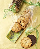 Florentines gift-wrapped in cellophane