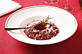 Red wine risotto with rosemary