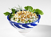 Herb quark with fenugreek sprouts