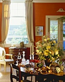 Dining room with summery table