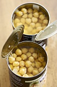 Two tins of chick-peas