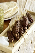 Grilled minced lamb kebabs