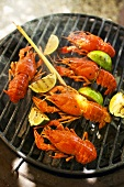 Grilled crayfish with limes