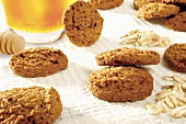 Honey oat biscuits