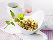 Tabbouleh (Middle Eastern bulgur wheat salad with parsley)
