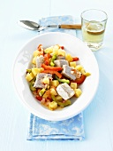 Tuna and vegetable ragout