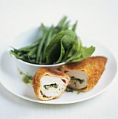 Chicken Kiev (Breaded, stuffed chicken breast)
