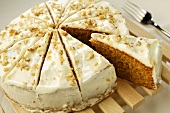 Iced carrot and orange cake