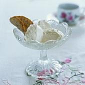 Ice cream in a dessert glass