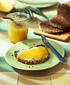 Pineapple and ginger spread on wholemeal bread