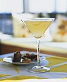 A glass of Meyer Lemon Cosmopolitan