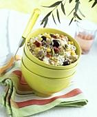 Rice, vegetable and tuna salad