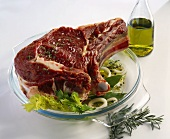 Fore rib of beef with marinade