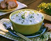 Herb quark with cress