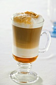 Latte macchiato with syrup