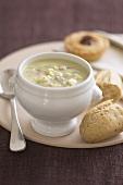 Stilton soup (English cheese soup)