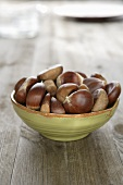 Sweet chestnuts in a bowl