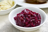 A side dish of red cabbage