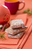 Sugar-glazed almond gingerbread