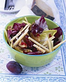 Damson salad with pecorino