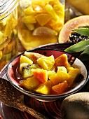 Exotic Rumtopf (fruit preserved in rum and sugar)
