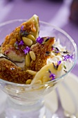Yoghurt with fresh figs and lavender honey
