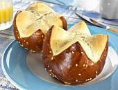 Organic pretzel rolls