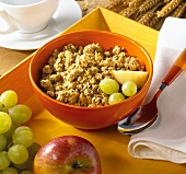 Cluster cereal with fruit
