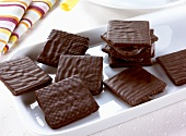 Chocolate-coated wafers