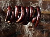 Smoking sausages