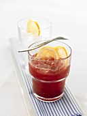 Grape and grapefruit cocktail