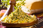 Tabbouleh (Lebanese bulgur salad with lemon and herbs)