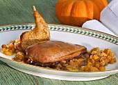 Woodcock with pumpkin