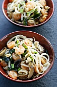 Udon noodles with seafood, shiitake mushrooms & seaweed (Japan)