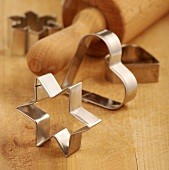 Biscuit cutters and rolling pin