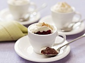 Chocolate cappuccino (Chocolate cream with cream topping in cup)