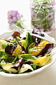 Salad with oranges and ginger dressing