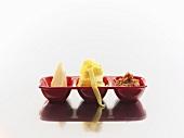 Tagliatelle with pesto rosso and Parmesan
