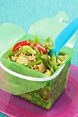Chinese rice salad with vegetables to take away