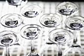 Up-turned wine glasses