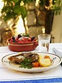 Lamb chop with lemon sauce (Greece)