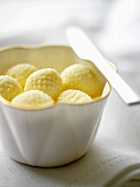 Butter balls in a dish