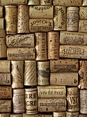 Assorted wine corks (full-frame)